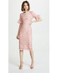 Shoshanna - Flare Sleeve Dress - Lyst