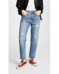 Madewell - Destroyed Classic Straight Jeans - Lyst