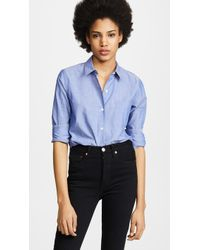 Theory - Icon Shirting Perfect Button Down - Lyst