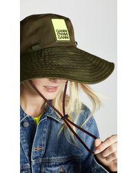 Ganni - Tech Fabric Hat - Lyst b0fd3fe0872f