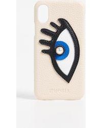 Iphoria - Beige With Blue Eye Iphone X Case - Lyst