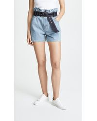 3.1 Phillip Lim - Belted Paperbag Shorts - Lyst