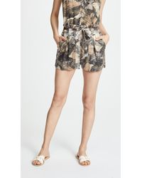 L'Agence - Alex Paperbag Shorts - Lyst