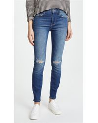 Current/Elliott - The High Waist Ankle Skinny Jeans - Lyst