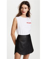 Helmut Lang - Raw Edge Muscle Tee - Lyst