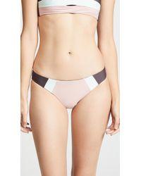 Pilyq - Riviera Colorblock Banded Full Bikini Bottoms - Lyst