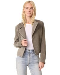 James Jeans - Cropped Motorcycle Jacket - Lyst