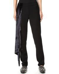 Baja East - Sparkle Velvet Pants - Lyst