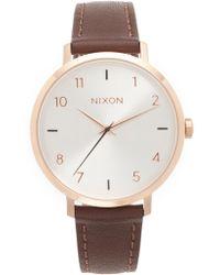 Nixon - Arrow Leather Watch - Lyst