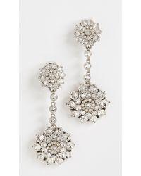 Oscar de la Renta - Classic Jewelled Drop Earrings - Lyst