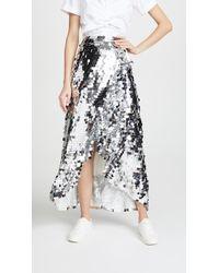 ANOUKI - Asymmetric Ruffle Skirt - Lyst