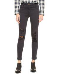J Brand - Alana High Rise Crop Jeans - Lyst