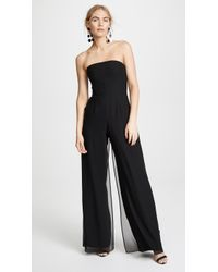 Halston - Strapless Jumpsuit With Flowy Pants - Lyst