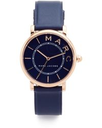 Marc Jacobs - Ladies Roxy Watch Navy/rosegold - Lyst