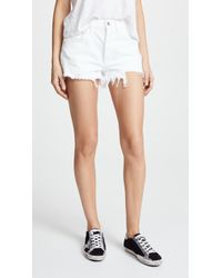 Agolde - Parker Loose Fit Cutoff Shorts - Lyst