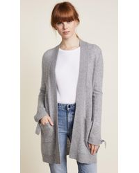 White + Warren - Tie Cuff Cardigan - Lyst