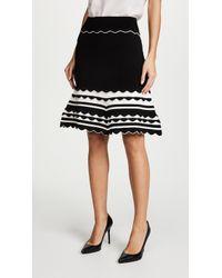 Yigal Azrouël | Knitted Strip Skirt | Lyst