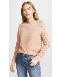 LNA - Variation Distressed Sweatshirt - Lyst