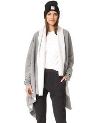 OAK - Long Sleeve Wrap Cardigan - Lyst