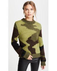 Smythe - Hand Knit Camo Intarsia Sweater - Lyst