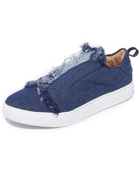 Jaggar - Fray Slip On Sneakers - Lyst