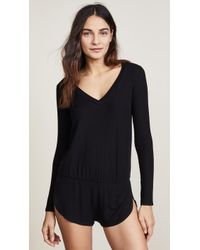Only Hearts - Feather Weight Rib Romper - Lyst