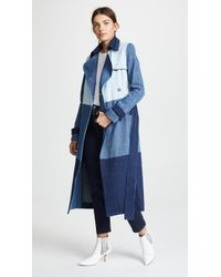 Ksenia Schnaider - Denim Patchwork Coat - Lyst
