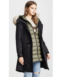 SOIA & KYO - Lois Utility Down Coat With Fur Trim - Lyst