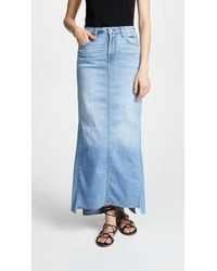 7 For All Mankind - Long Maxi Skirt - Lyst