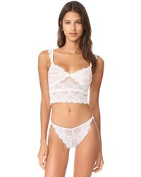 Only Hearts | So Fine Lace Cropped Camisole | Lyst