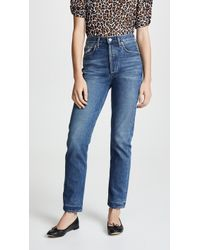 Citizens of Humanity - Charlotte High Rise Straight Jeans - Lyst
