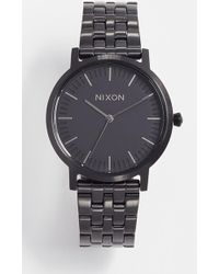 Nixon - Porter Gunmetal Watch, 35mm - Lyst