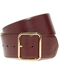 W. Kleinberg - Glazed Leather Bar Belt - Lyst