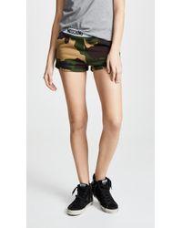 Moschino - Camouflage Cotton Sweat Shorts - Lyst