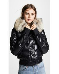Sam. - Skyler Short Down Jacket With Fur - Lyst