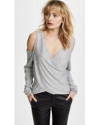 Line & Dot - Roslyn Cold Shoulder Sweater - Lyst
