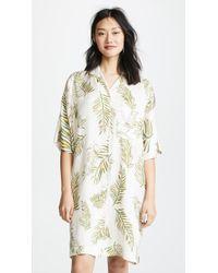 Giada Forte - Desert Leaf Print Tunic Dress - Lyst