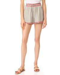 Ella Moss - Marini Embroidered Shorts - Lyst