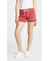 Sundry - Stripes Cut Off Shorts - Lyst