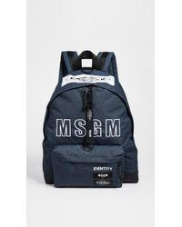 MSGM - X Eastpak Padded Nylon Backpack - Lyst