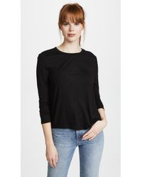 T By Alexander Wang - Classic Cropped Long Sleeve Tee - Lyst