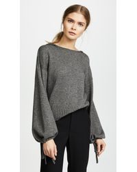 Vince - Scrunch Crop Hooded Sweater - Lyst