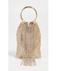 Whiting & Davis - Cascade Crystal Bracelet Bag - Lyst