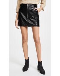 FRAME - Buckle Back Miniskirt - Lyst