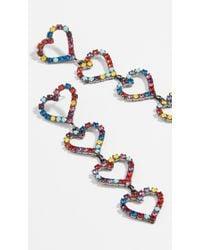 Elizabeth Cole - Mila Heart Drop Earrings - Lyst
