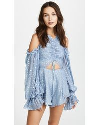 Alice McCALL | Did It Again Cold-shoulder Gathered Fil Coupé Georgette Playsuit | Lyst