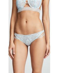 For Love & Lemons - Mia Lace Strappy Thong - Lyst