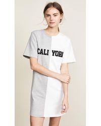 Cynthia Rowley - Cali York Embroidered T-shirt Dress - Lyst