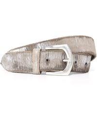B. Belt - Metallic Twill Print Belt - Lyst