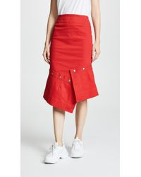 Edit - Pencil Skirt With Button Off Peplum - Lyst